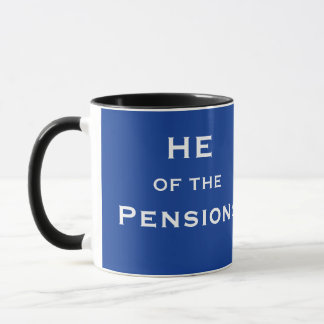 He of Pensions Funny Male Pension Manager Name Mug