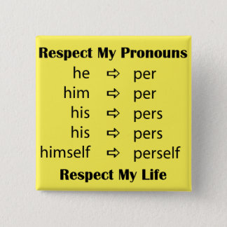 He -> per/person 15 cm square badge