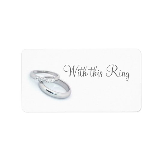 He Put a Ring on It/save the date Address Label