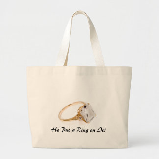 He Put a Ring on It/Save the Date Jumbo Tote Bag