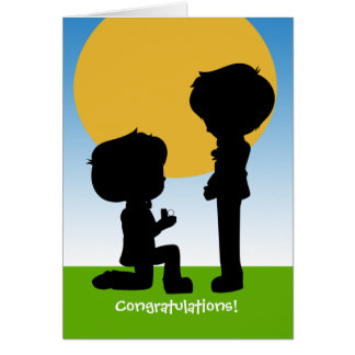 He Said Yes Congratulations Engagement Gay Themed Card