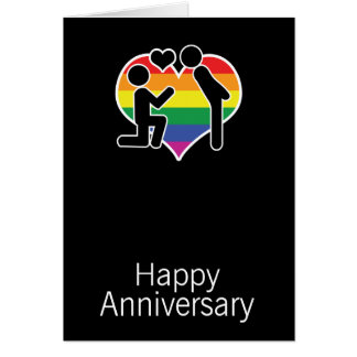He Said Yes Happy Anniversary Gay Themed Card