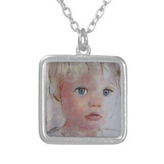he saw another way silver plated necklace