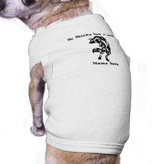 He Thinks He's A Wolf Funny Shirt