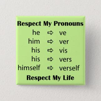 He -> ve 15 cm square badge