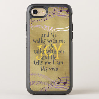 He Walks with Me Lyric with Musical Notes OtterBox Symmetry iPhone 8/7 Case