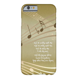 He Walks with Me Lyrics with Music Notes Barely There iPhone 6 Case