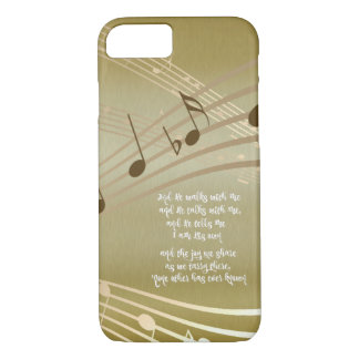 He Walks with Me Lyrics with Music Notes iPhone 7 Case