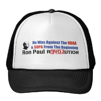 He Was Against NDAA & SOPA From The Beginning Mesh Hat
