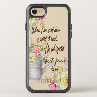 He Whispers Sweet Peace Hymn Quote OtterBox Symmetry iPhone 8/7 Case