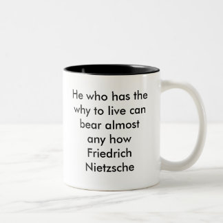 He who has the why to live can bear almost any ... Two-Tone coffee mug