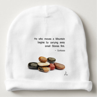 He who moves a Mountain ... - Confucius Baby Beanie