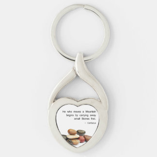 He who moves a Mountain ... - Confucius Key Ring