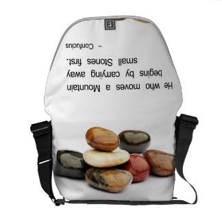 He who moves a Mountain ... - Confucius Messenger Bag