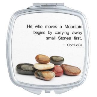 He who moves a Mountain ... - Confucius Vanity Mirror