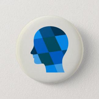 Head 6 Cm Round Badge