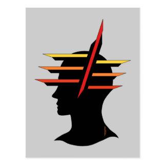Head Abstract Postcard