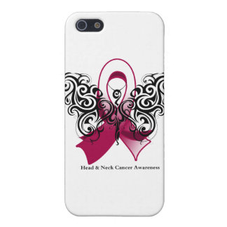 Head and Neck Cancer Tribal Butterfly Ribbon iPhone 5/5S Cover
