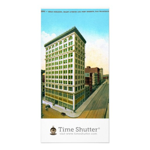 Head Building Photo Card Template