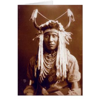 Head Carry (Native American) Card