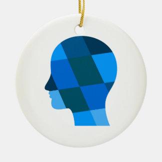 Head Ceramic Ornament