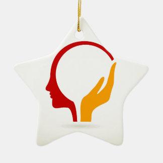 Head Ceramic Star Decoration