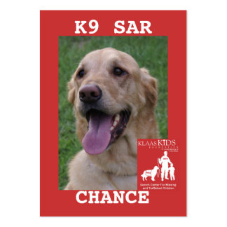head-CHANCE, KlassKids Search Team K9 Business Cards