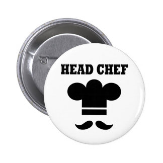 Head Chef 6 Cm Round Badge