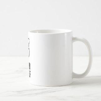 Head chef face & hat black design mugs