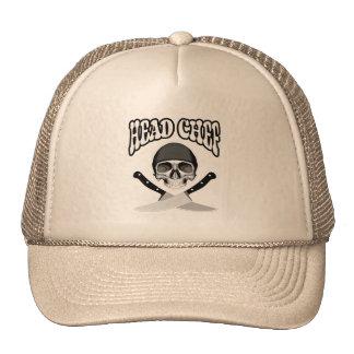 Head Chef Skull (b&w) Mesh Hats