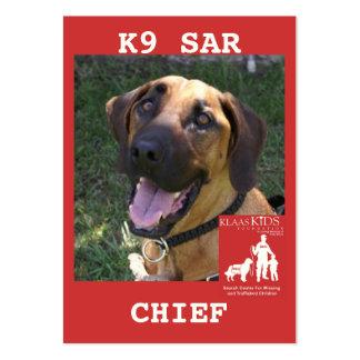 head-chief2, KlassKids Search Team Business Cards