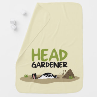 Head Gardener Illustration Baby Blanket