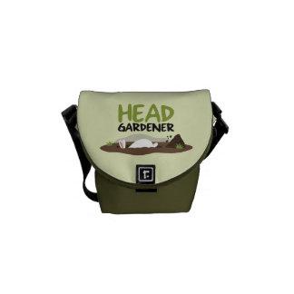 Head Gardener Illustration Commuter Bags