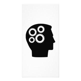 Head gear wheels customized photo card