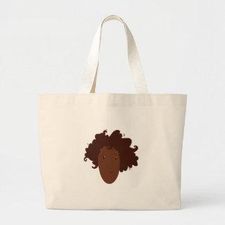 Head Hair Tote Bags
