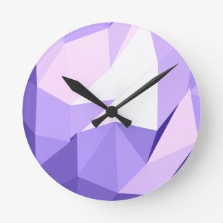 Head in the Clouds :  abstract splash of purples Clocks