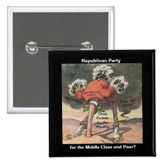 Head in the Sand Republican Party 15 Cm Square Badge
