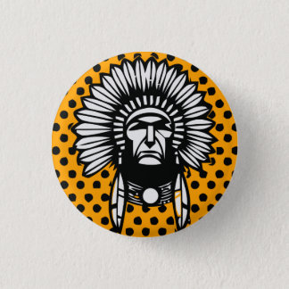 Head indian 3 cm round badge