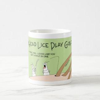 Head Lice playing golf Coffee Mug