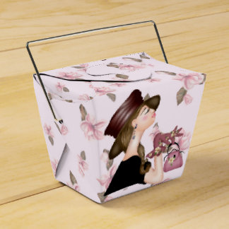 HEAD MODEL CARTOON Take Out Favor Box