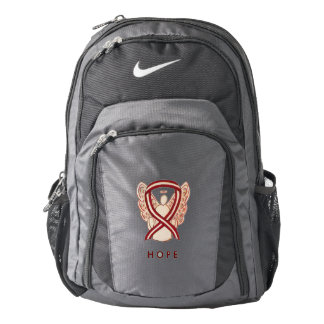 Head & Neck Cancer Awareness Ribbon Angel Backpack