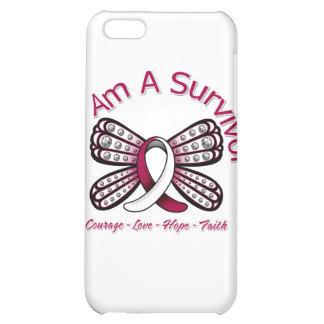 Head Neck Cancer Butterfly I Am A Survivor iPhone 5C Cases