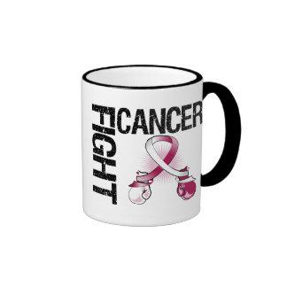 Head Neck Cancer Fight Boxing Gloves Ringer Mug