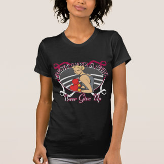 Head Neck Cancer Fight Like A Girl Boxer Tee Shirts