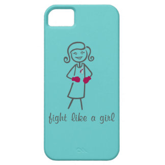 Head Neck Cancer Fight Like A Girl (Retro) iPhone 5 Case