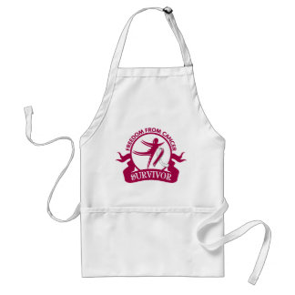 Head Neck Cancer - Freedom From Cancer Survivor Adult Apron