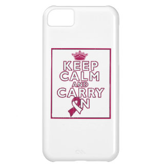 Head Neck Cancer Keep Calm and Carry ON iPhone 5C Case