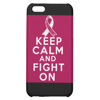 Head Neck Cancer Keep Calm and Fight On Case For iPhone 5C