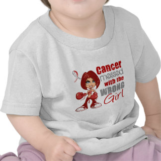 Head Neck Cancer Messed With Wrong Girl.png Tees