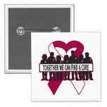 Head Neck Cancer Together We Can Find A Cure 15 Cm Square Badge